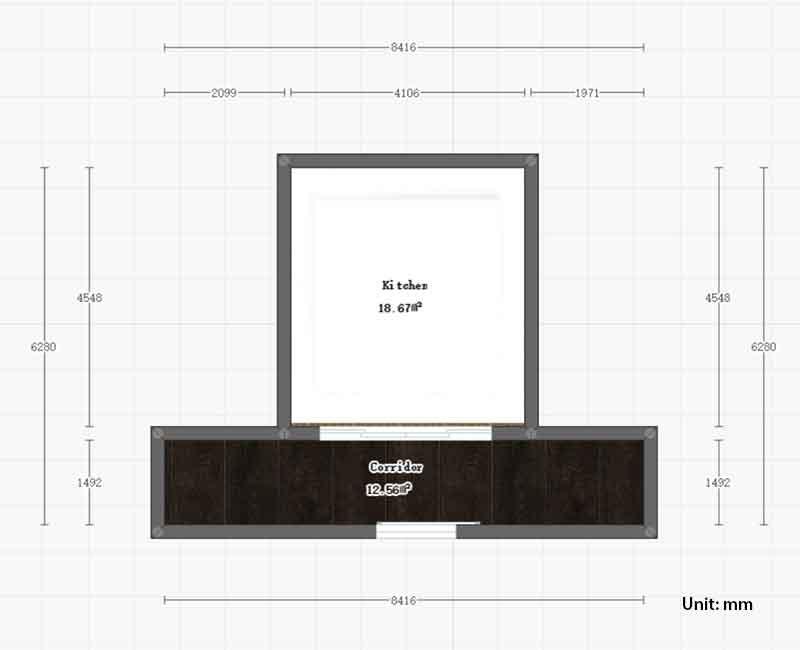 kitchen design size