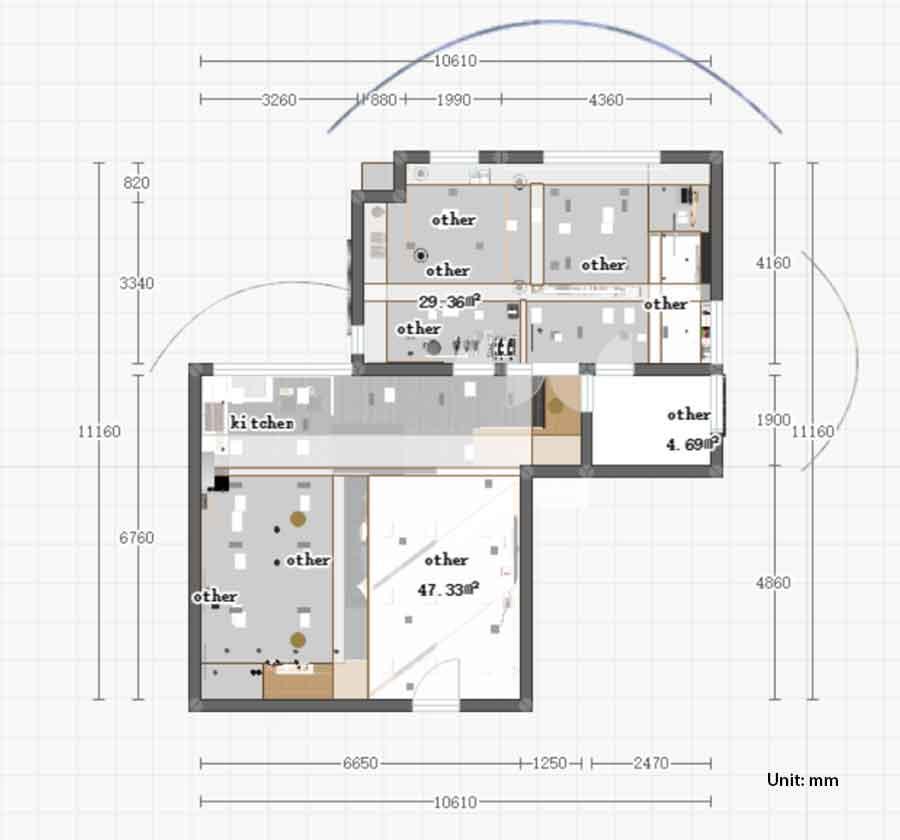 galley kitchen layout size